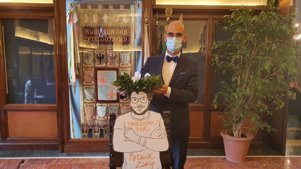 non-laurea patrick zaki bologna