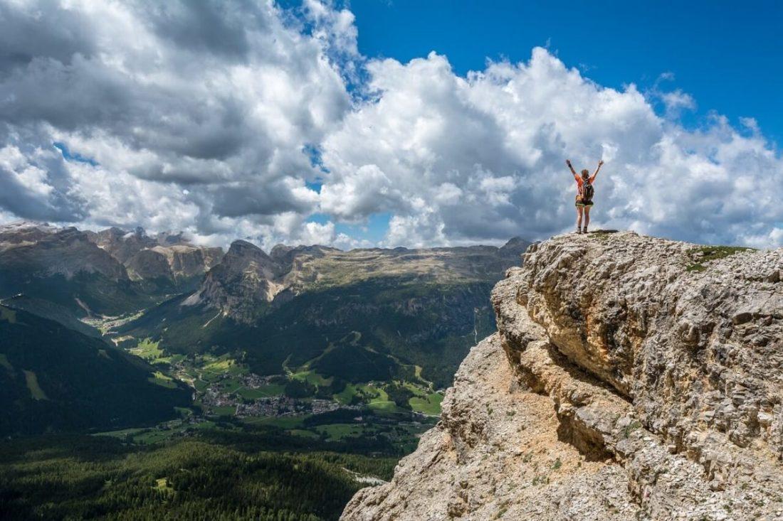 persona montagna