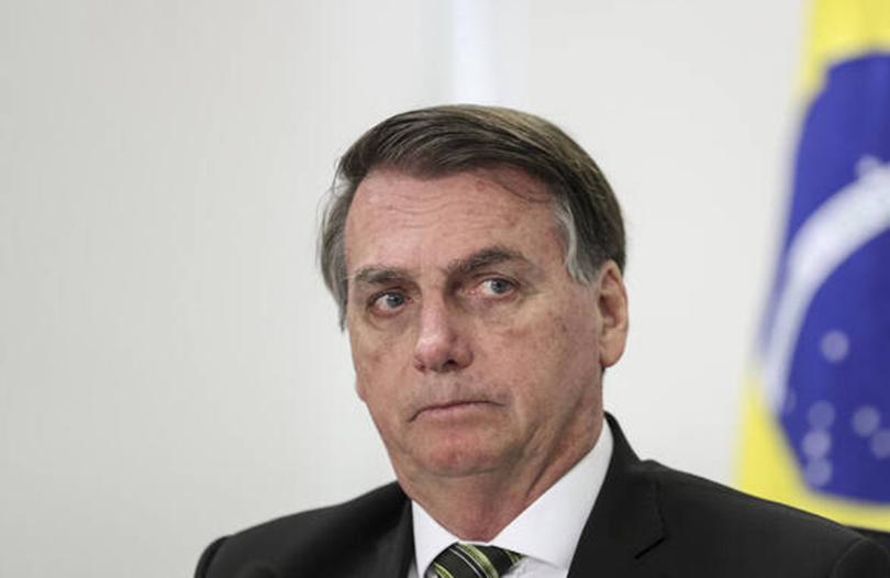 Brazilian President Bolsonaro May 7, 2020, Brasilia, DF, Brazil: Brazilian President Jair Bolsonaro during a video conf