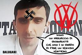 Giovanni Balugani giornalista gazzetta di modena svastica