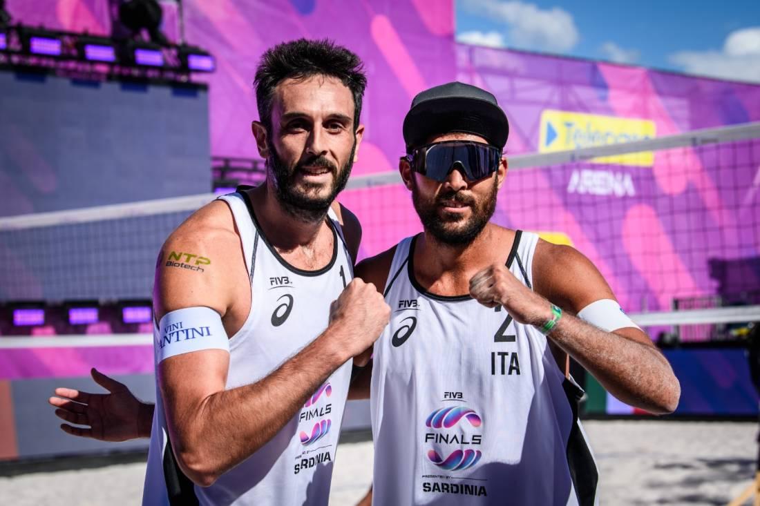 Paolo Nicolai e Daniele Lupo foto da facebook della Federazione Italiana Pallavolo