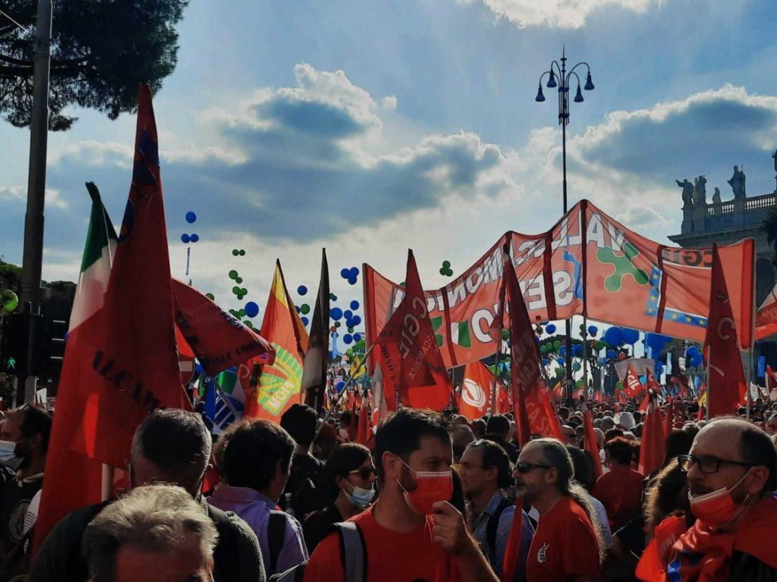 manifestazione sindacati antifascismo roma