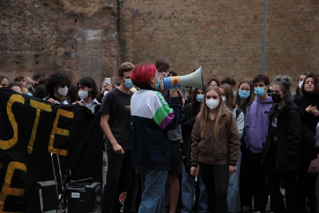 sciopero studenti liceo cavour roma