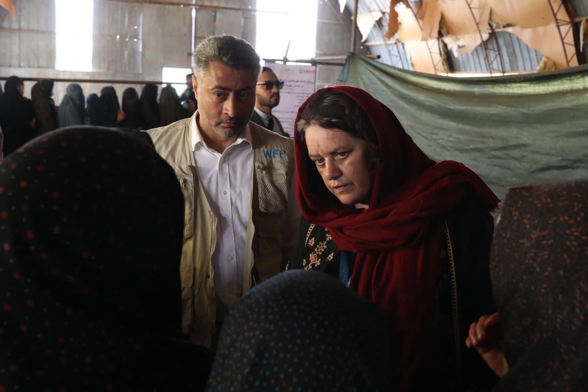 Ellen McGroarty, direttrice del World Food Programme (Wfp) a Kabul.
