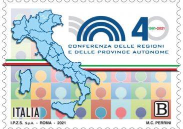 Francobollo 40 anni conferenza regioni