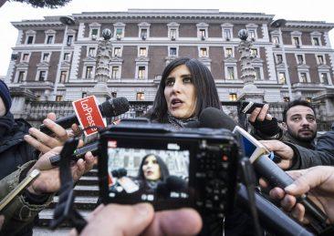 CHIARA APPENDINO ESCE DAL MINISTERO DELL'INTERNO DOPO AVER INCONTRATO MATTEO SALVINI