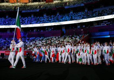 CERIMONIA DI APERTURA OLIMPIADI DI TOKYO 2020 GIOCHI OLIMPICI ATLETI ITALIANI