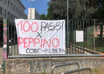 Milano liceo Beccaria 100 impronte per Peppino Impastato (2)