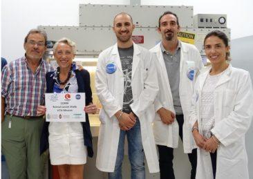 Team-CORM-presso-i-laboratori-KSC-della-NASA-da-sinistra-Sergio-Capaccioli-Monica-Monici-Leonardo-Vignali-Matteo-Lulli-Francesca-Cialdai-600-x-476