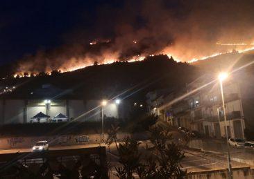 incendio monte sicilia
