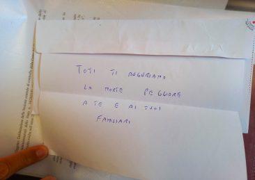lettera minacce a toti