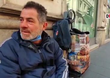 papà senzatetto