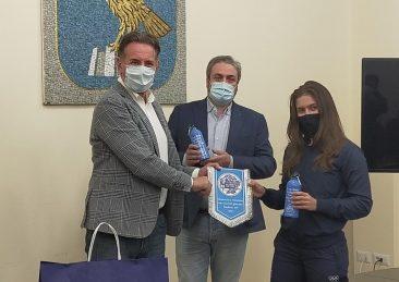 assessore alla Difesa dell'ambiente, Energia e Sviluppo sostenibile friuli venezia giulia Fabio Scoccimarro e la campionessa olimpica di judo Veronica Toniolo