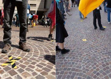 protesta-bologna-distanza-sicurezza