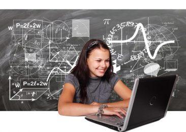 ragazza studio matematica stem