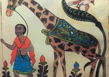 A giraffe from the ninth-century naturalist al-Jahiz's Book of Animals, which Marwa Elshakry notes in Reading Darwin in Arabic 'was frequently likened to Darwin's Origin of Species'