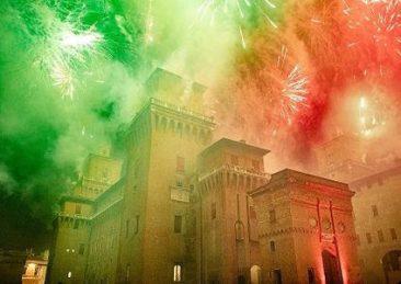 fuoco al castello di ferrara capodanno