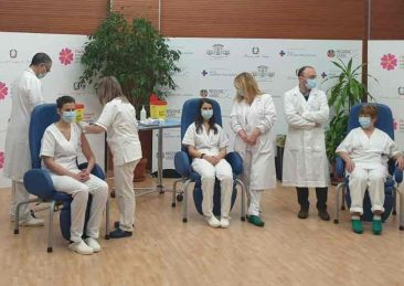 I primi vaccinati d'Italia contro il Covid