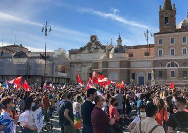 manifestazione ddl zan piazza popolo